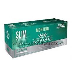 Tuburi Tigari Korona Slim Menthol 250
