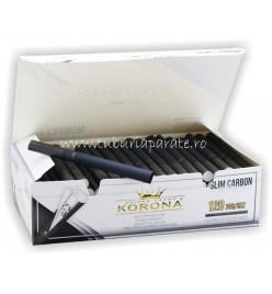 Tuburi Tigari Korona Slim Black Carbon