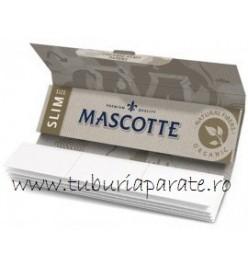 Foite Rulat Tutun Mascotte Organic Slim KS + Filter Tips